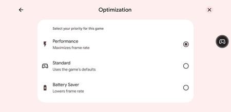 Modo Juegos Android 12