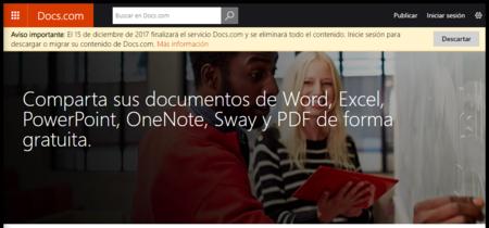 Microsoft cierra Docs.com, su plataforma para compartir documentos de Office
