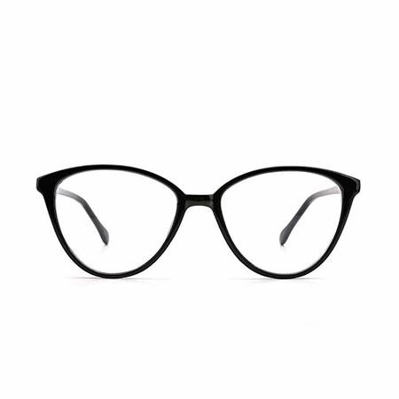 OQ CLUB Gafas para Mujer de Moda Minimalismo Bloqueo Luz Azul Ojos de Gato Estiloso Lente Clara