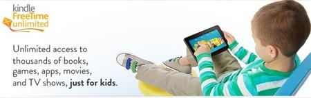 Amazon presenta el programa pensado para niños Kindle FreeTime Unlimited (acceso a contenidos ilimitados con pago mensual)
