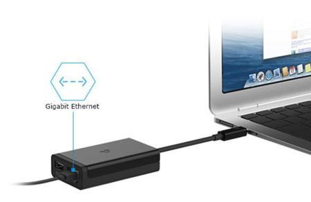 Adaptador Thunderbolt a Gigabit Ethernet + USB 3.0 de Kanex