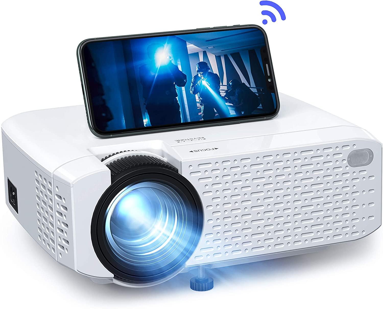 Proyector Wi-fi, mini proyector portátil inalámbrico Full HD