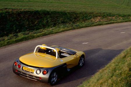Vista posterior del Renault Spider