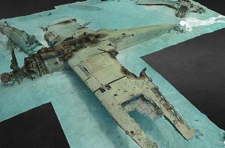 Bucea entre restos de naufragios y hundimientos de la Segunda Guerra Mundial escaneados en 3D