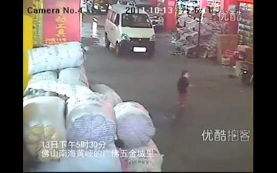 Indiferencia ciudadana ante el atropello de una niña en China