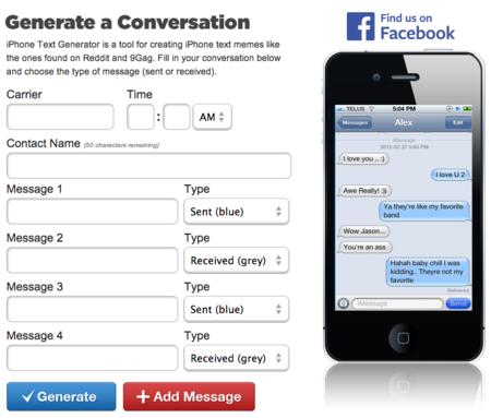 conversación falsa generador web