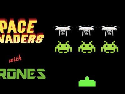 Esta versión de 'Space Invaders' a escala humana con drones es una verdadera genialidad