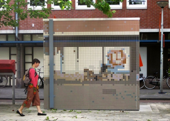Mosaicos, pinturas y grabados utilizados para el camuflaje urbano