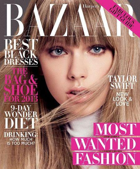 Taylor Swift, muy amiga de sus amigas en Harper's Bazaar