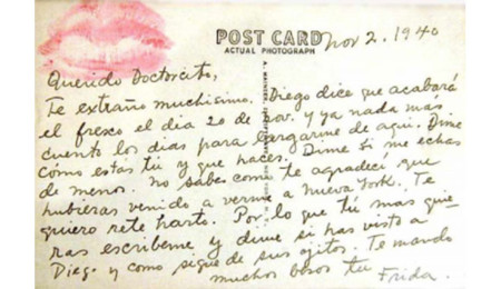 Postal de Frida al Dr. Eloesser