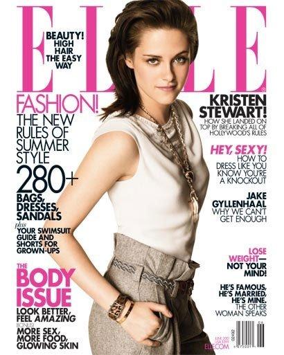 Kristen Stewart, mucho más mona de lo habitual, en la revista Elle