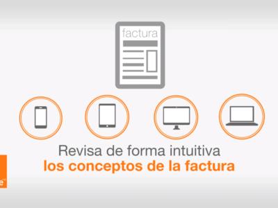 La nueva factura interactiva de Orange ayudará a entender mejor los conceptos cobrados