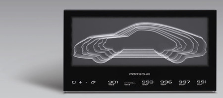 Esta lámpara te muestra las siluetas de todos los Porsche 911