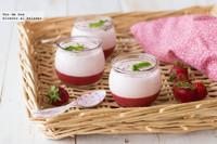 Crema ligera de fresas, mascarpone y yogur griego. Receta
