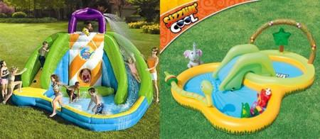 Tienes jard n pero no tienes piscina construye un parque for Piscinas hinchables alcampo