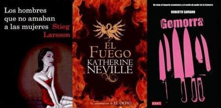tríptico libros: stieg larsson, gomorra, el fuego