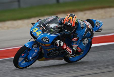 Arón Canet pulveriza el record de Austin en Moto3 y saldrá mañana desde la pole