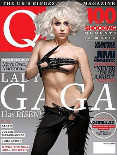 Lady Gaga, atrevida y en topless, en la portada de Q Magazine
