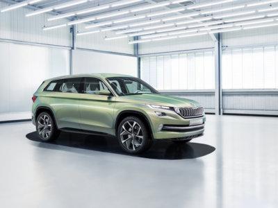 Así es el Škoda Vision S híbrido, el futuro SUV de Skoda inspirado en los cristales de Bohemia