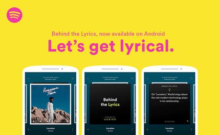 Behind the Lyrics' de Spotify ya en Android: letras y datos curiosos de las canciones de tus artistas favoritos