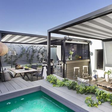 Este espectacular ático en Barcelona está diseñado para disfrutar del exterior tanto como del interior
