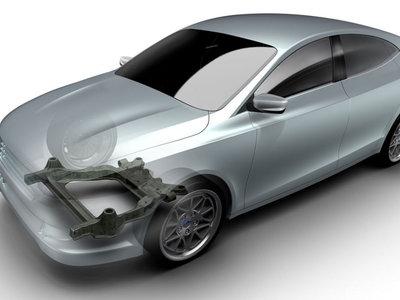 Magna y Ford crean un subchasis de fibra de carbono, más sencillo y ligero