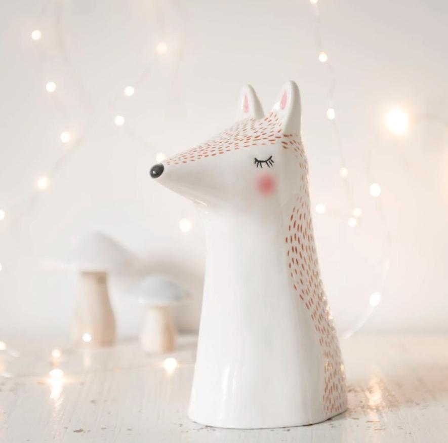 Figura de zorro de porcelana Alt.23