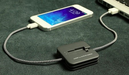 JUMP, el cable para cargar el móvil que se reserva un poco de energía para después