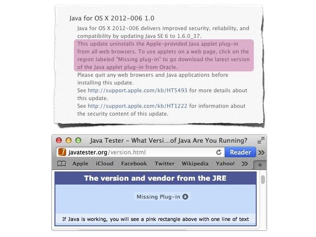 Apple elimina Java de todos los navegadores compatibles con OS X