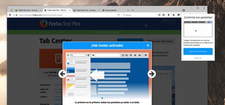 Probamos Tab Center, Snooze Tabs y Activity Stream, los últimos experimentos de Firefox