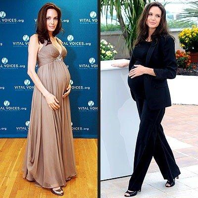 angelina jolie estilo embarazada