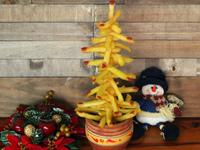 Recetas de Navidad para hacer con niños: árbol de Navidad hecho de patatas fritas