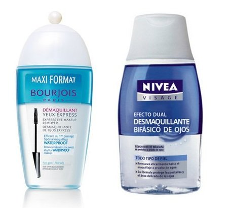 Duelo de desmaquillantes de ojos: bifásico Express de Bourjois vs bifásico Doble Acción de Nivea