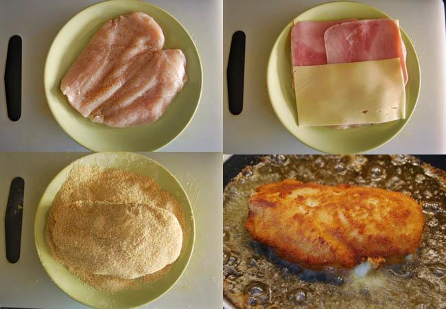 San jacobos de pollo sin lactosa. Pasos