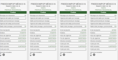 Oxxocel Tarifas Freedom Pop Mexico