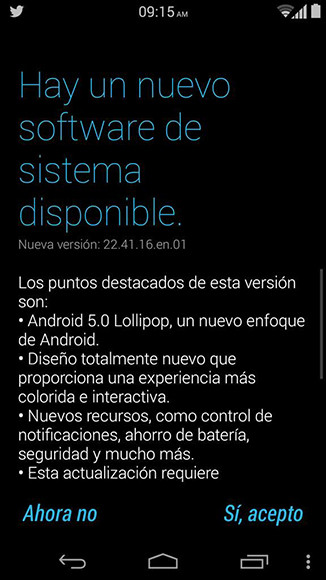 Moto X Lollipop Telcel