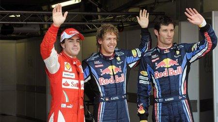 GP de Gran Bretaña 2010: Sebastian Vettel se queda con el alerón de Mark Webber