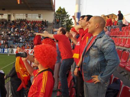 La foto de la semana: Siguiendo a la selección española en tiempos de low cost