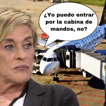 """Chelo García Cortés monta un pollo en el aeropuerto y exige una sala VIP: """"Tú no sabes con quién estás hablando"""""""