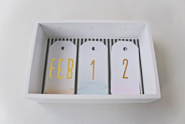 Diy Desk Calendar Watercolor Ombre 16