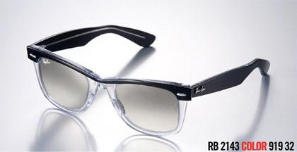 gafas ray ban patillas blancas