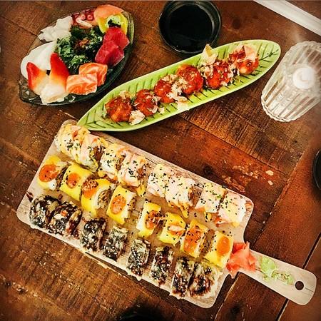 Mesa picoteo sushi