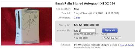 La Xbox 360 firmada por Sarah Palin