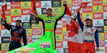 James Hinchcliffe gana en Sao Paulo la carrera del año
