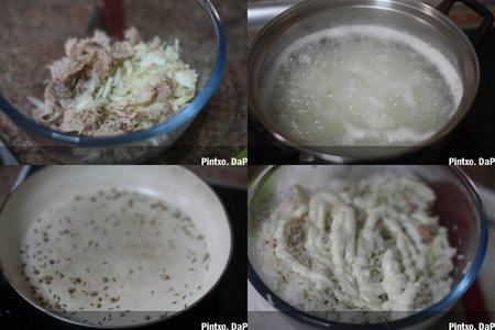 Ensalada de arroz basmati con hinojo y atún en escabeche. Pasos
