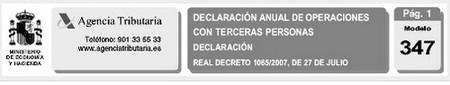 Modelo 347: confección de la declaración paso a paso