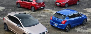 Comparativa: SEAT Ibiza vs. Suzuki Swift vs. KIA Rio vs. Mazda2