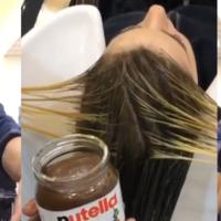 No, no se puede teñir el pelo con Nutella y leche condensada
