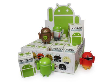Toys de Android, con el modelo original y también disponibles otros colores y diseños