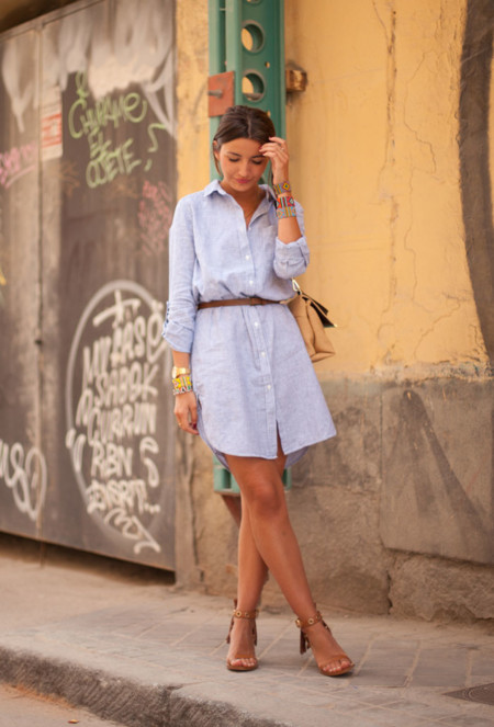 Look vestido rayas verano